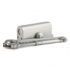Доводчик дверной НОРА-М 3S с малым рычагом, серебро