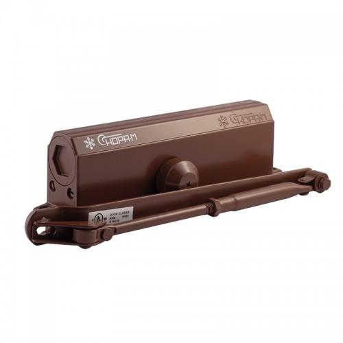 Доводчик дверной НОРА-М №5S большой EN5, цвет - коричневый