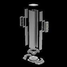09591 Алюминиевая колонна 0,71 м, цвет светло-серебристый металлик