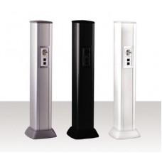 09593 Алюминиевая колонна 0,71 м, цвет черный