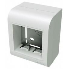 10013 PDM Коробка монтажная под 2 модуля 45X45 мм