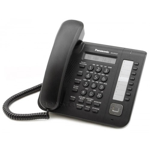 KX-DT 521 RU-B Цифровой системный телефон, большой ЖК-дисплей (1 строка) с подсветкой и с поддержкой