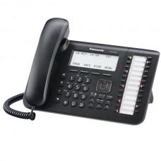 KX-DT546RU-B Цифровой системный телефон, большой ЖК-дисплей (6 строк) с подсветкой и с поддержкой