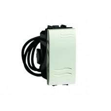 76001BL Выключатель с подсветкой, белый, 1мод.
