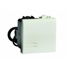 76002BL Выключатель с подсветкой, белый, 2мод.