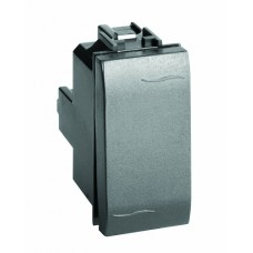 77001NL Выключатель с подсветкой, черный, 1мод.