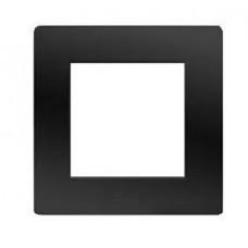 75010B Рамка на 2 модуля (одноместная), черная