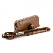 Доводчик дверной НОРА-М 3S с малым рычагом, коричневый