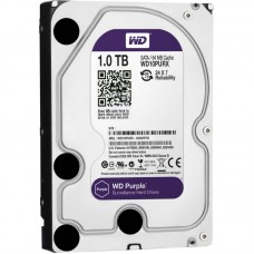 Жесткий диск для видеонаблюдения HDD 1Tb Western Digital Purple WD10PURX SATA 6Gb/s 64Mb 3,5''