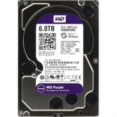 Жесткий диск для видеонаблюдения HDD 6Tb Western Digital Purple WD60PURX SATA 6Gb/s 64Mb 3,5''