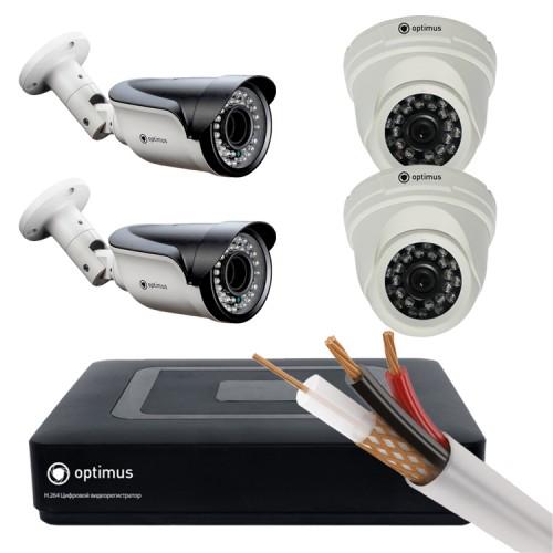 Комплект AHD - 2 камеры внутренние, 2 камеры уличные