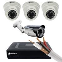 AHD-3 камеры внутренние,1 камера уличная
