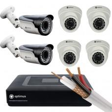 AHD-4 камеры внутренние,2 камеры уличные