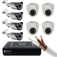 AHD-4 камеры внутренние,4 камеры уличные