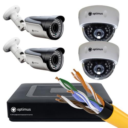 Комплект IP - 2 камеры внутренние, 2 камеры уличные