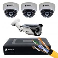IP-3 камеры внутренние,1 камера уличная