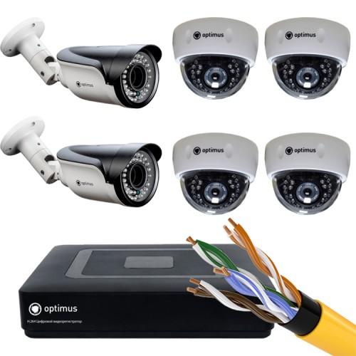 Комплект IP - 4 камеры внутренние, 2 камеры уличные
