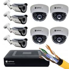 IP-4 камеры внутренние,4 камеры уличные