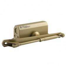 Доводчик с фиксацией НОРА-М 3S-F, золото (до 80кг) морозостойкий