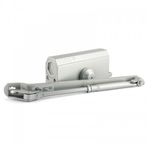 Доводчик дверной НОРА-М №3s F большой EN3-4, цвет - серебро с фиксацией